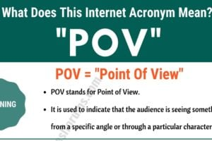 "POV Meaning: The Meaning and Interesting Examples of ""POV"" 2"