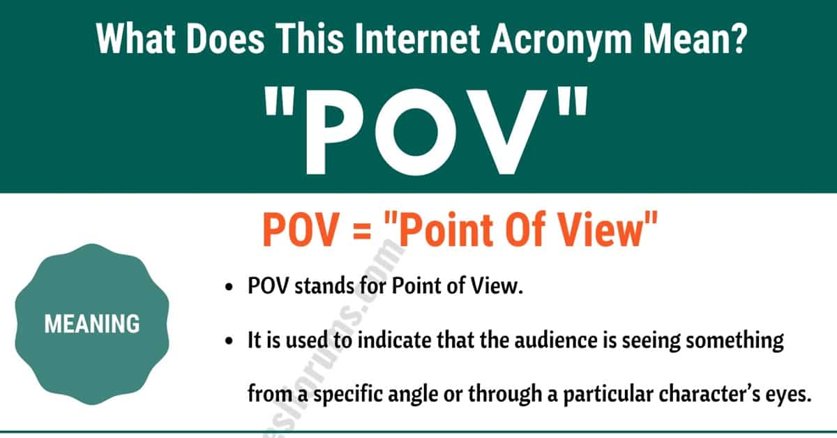 """POV Meaning: The Meaning and Interesting Examples of """"POV"""" 2"""