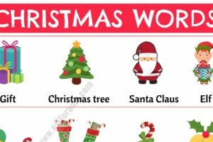Christmas Words: List of Useful Words Related to Christmas with Example Sentences 13