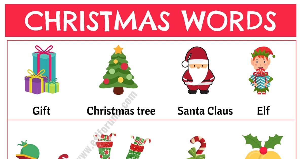 Christmas Words: List of Useful Words Related to Christmas with Example Sentences 1