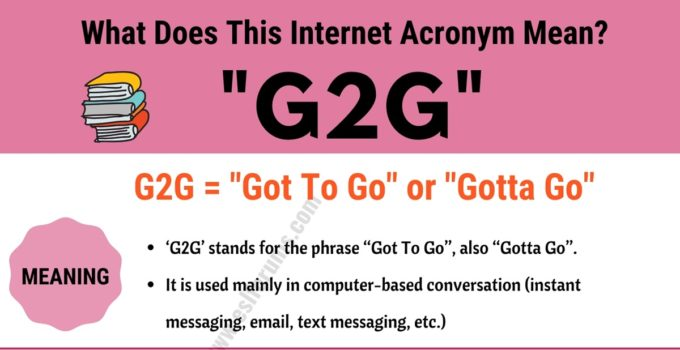G2G Meaning: What Does G2G Actually Mean and Stand For? (with Useful Examples) 1
