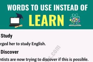 "LEARN Synonym: List of Useful Synonyms for the Word ""Learn"" 10"