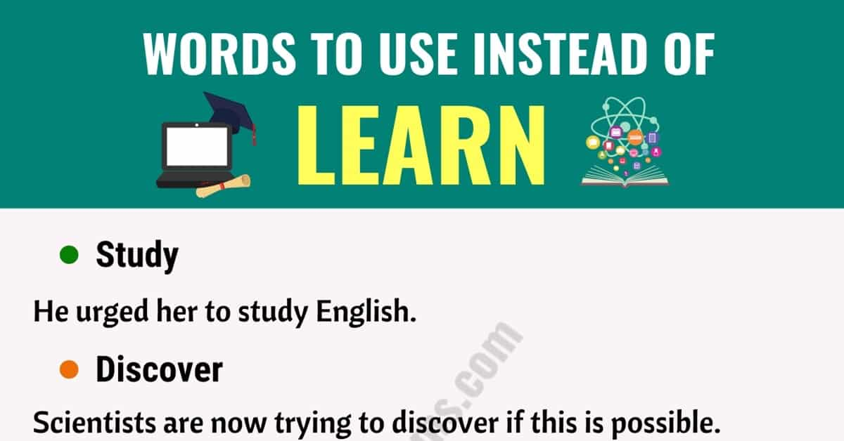 """LEARN Synonym: List of Useful Synonyms for the Word """"Learn"""" 1"""