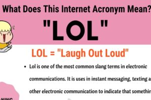 "LOL Meaning: How Do You Define The Popular Acronym ""LOL""? 10"