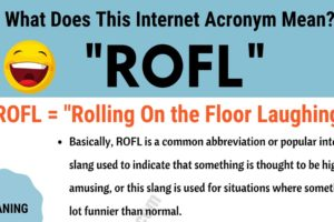 ROFL Meaning: What Does This Useful Acronym Mean and Stand For? 3