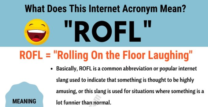 ROFL Meaning: What Does This Useful Acronym Mean and Stand For? 1