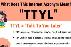 "TTYL Meaning: What Does Interesting Acronym ""TTYL"""" Mean and Stand For? 12"