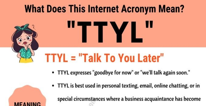 """TTYL Meaning: What Does Interesting Acronym """"TTYL"""""""" Mean and Stand For? 1"""