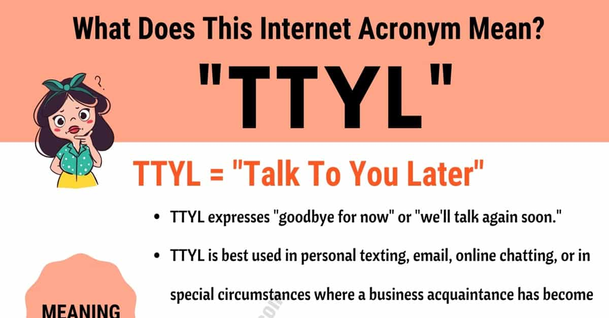 "TTYL Meaning: What Does Interesting Acronym ""TTYL"""" Mean and Stand For? 7"