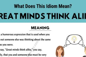 Great Minds Think Alike: What Does This Interesting Idiom Mean and Stand For? 9