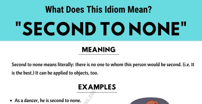 Second To None: What Does This Useful Idiom Mean? 1