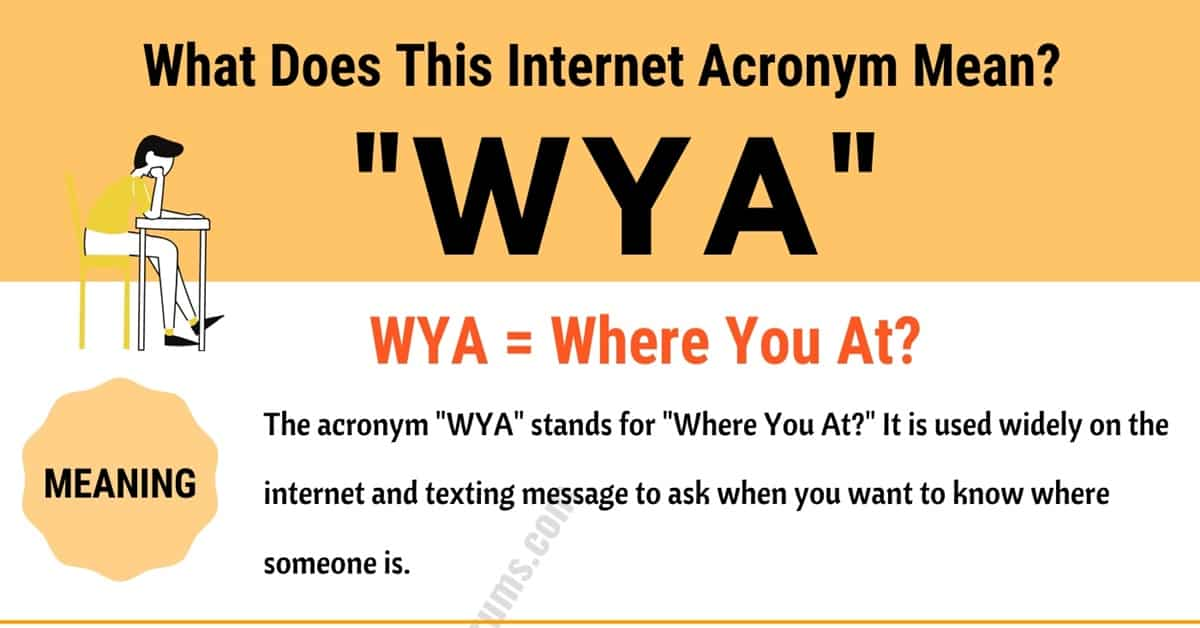 WYA Meaning: What Does This Popular Acronym Mean and Stand For? 1
