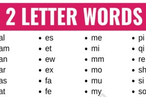 2 Letter Words: List of 100+ Words that Have 2 Letters in English 11