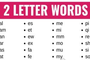 2 Letter Words: List of 100+ Words that Have 2 Letters in English 3