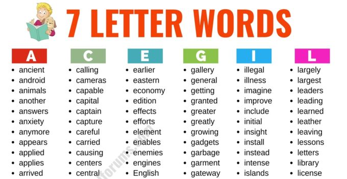 7 Letter Words: List of 500+ Useful English Words that Have 7 Letters 1