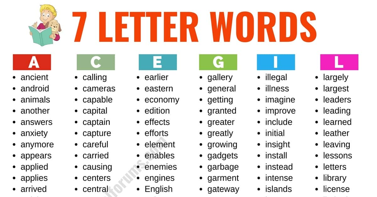 7 Letter Words: List of 500+ Useful English Words that Have 7 Letters 10