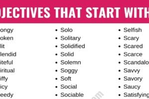 Adjectives that Start with S: List of 250+ S Adjectives with Useful Examples 9