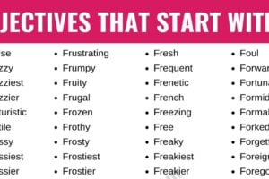 Adjectives that Start with F: List of 250+ Adjectives Starting with F in English 2