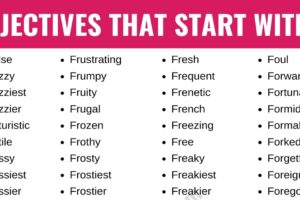 Adjectives that Start with F: List of 250+ Adjectives Starting with F in English 13
