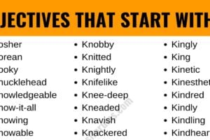 Adjectives that Start with K: List of 50+ Adjectives Starting with K 8