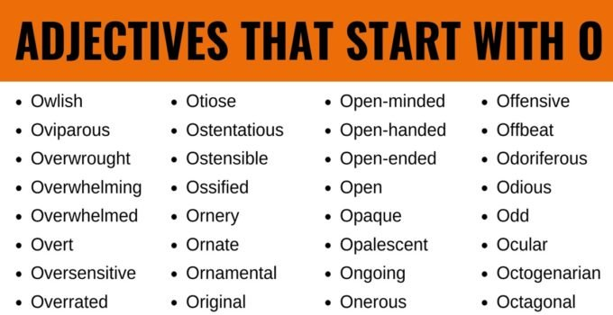 Adjectives that Start with O: List of 100+ Adjectives Starting with O in English 1