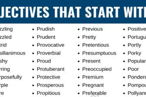 Adjectives that Start with P: List of 180+ Adjectives Starting with P in English 11