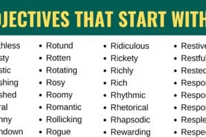 Adjectives that Start with R: List of 185+ Adjectives that Start with R with Useful Examples 8