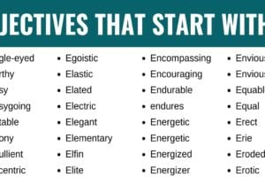 Adjectives that Start with E: List of 120+ Adjectives Starting with E in English 9