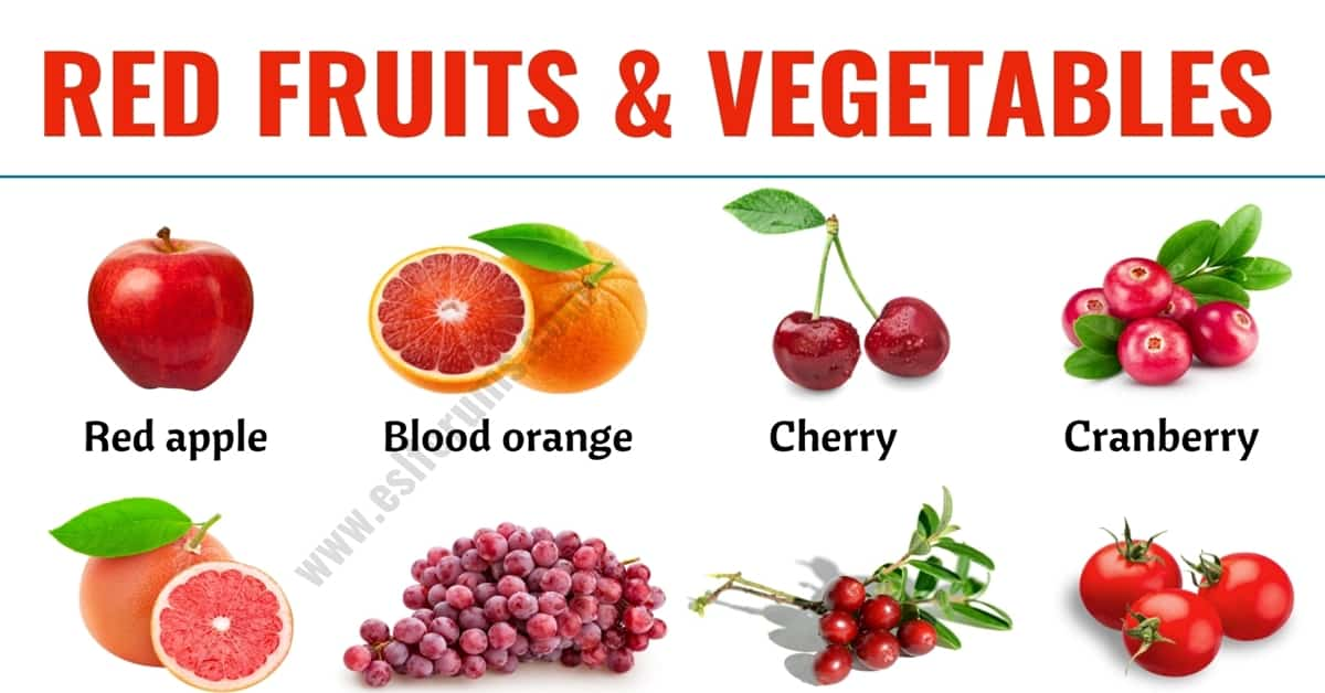 Red Fruits: List of 20+ Red Fruits & Vegetables in English 7