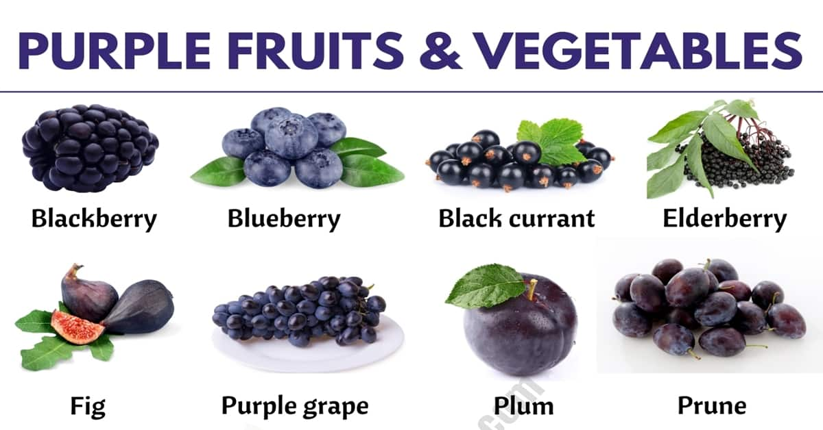 Purple Vegetables: List of 24 Purple Fruits and Vegetables in English 7