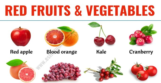 Red Fruits: List of 20+ Red Fruits & Vegetables in English 1