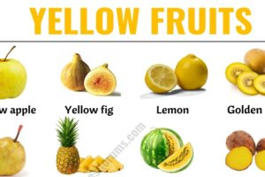 Yellow Fruits: List of 30+ Yellow Fruits & Vegetables with ESL Picture! 10