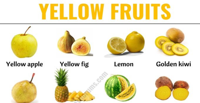 Yellow Fruits: List of 30+ Yellow Fruits & Vegetables with ESL Picture! 1