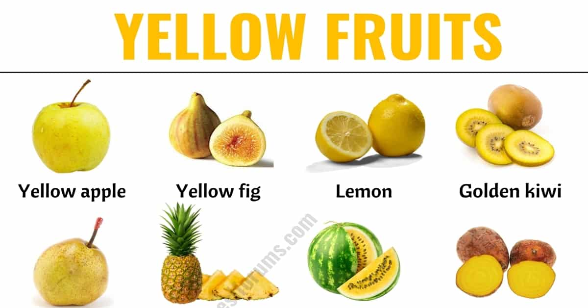 Yellow Fruits: List of 30+ Yellow Fruits & Vegetables with ESL Picture! 11