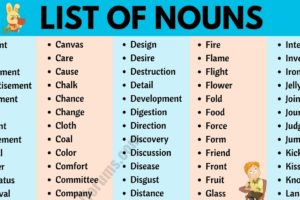 List of Nouns: A Guide to 600+ Common Nouns in English 10