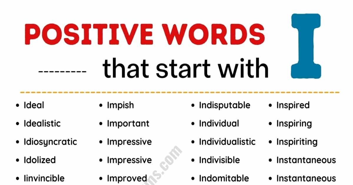 Top 100+ Common Positive Words that Start with I in English 1