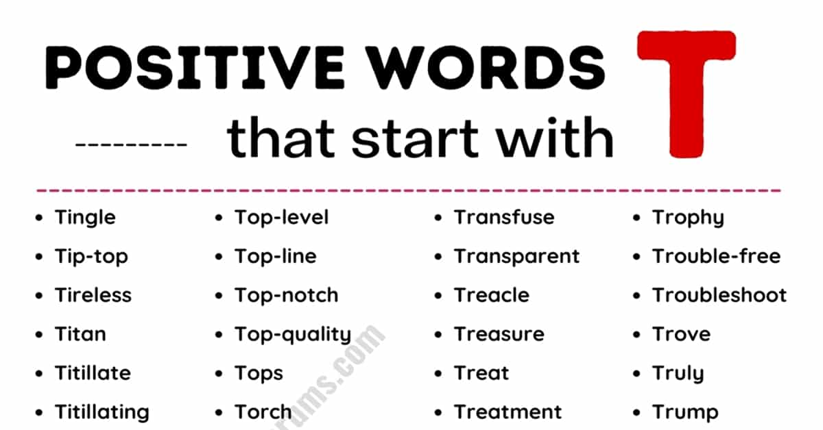 Top 200+ Commonly Used Positive Words that Start with T 3