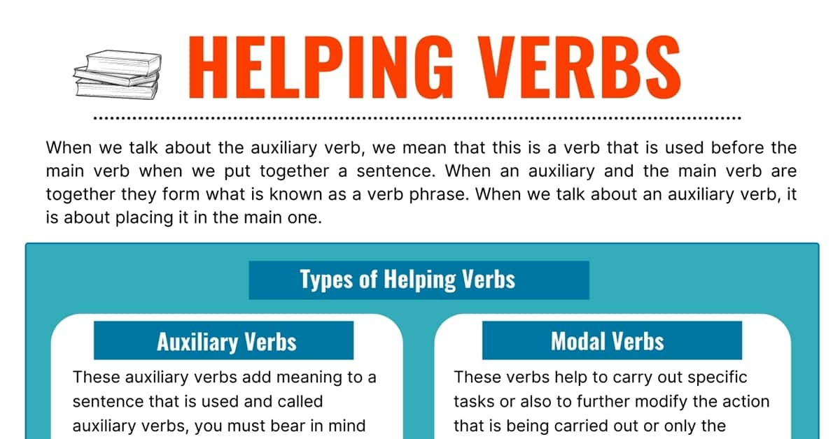 Helping Verbs: Definition, Types and Some Useful Examples 1