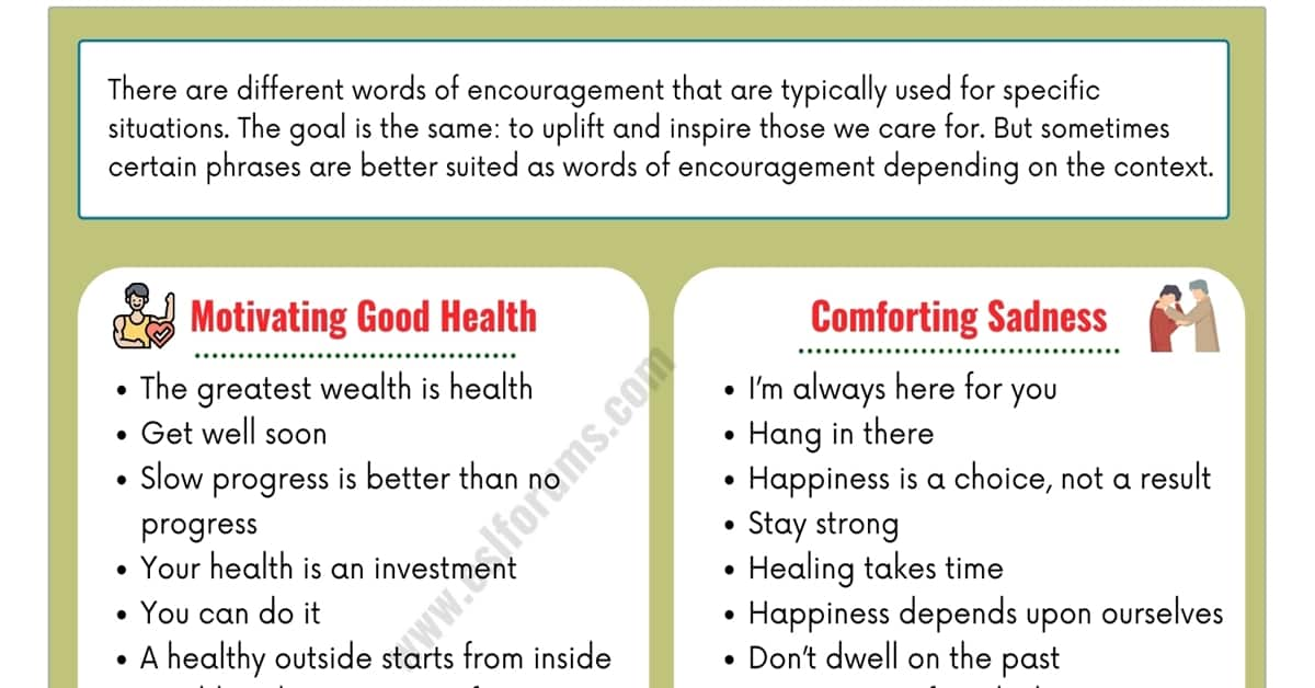 Top 40+ Best Words of Encouragement for Inspiring Loved People 1