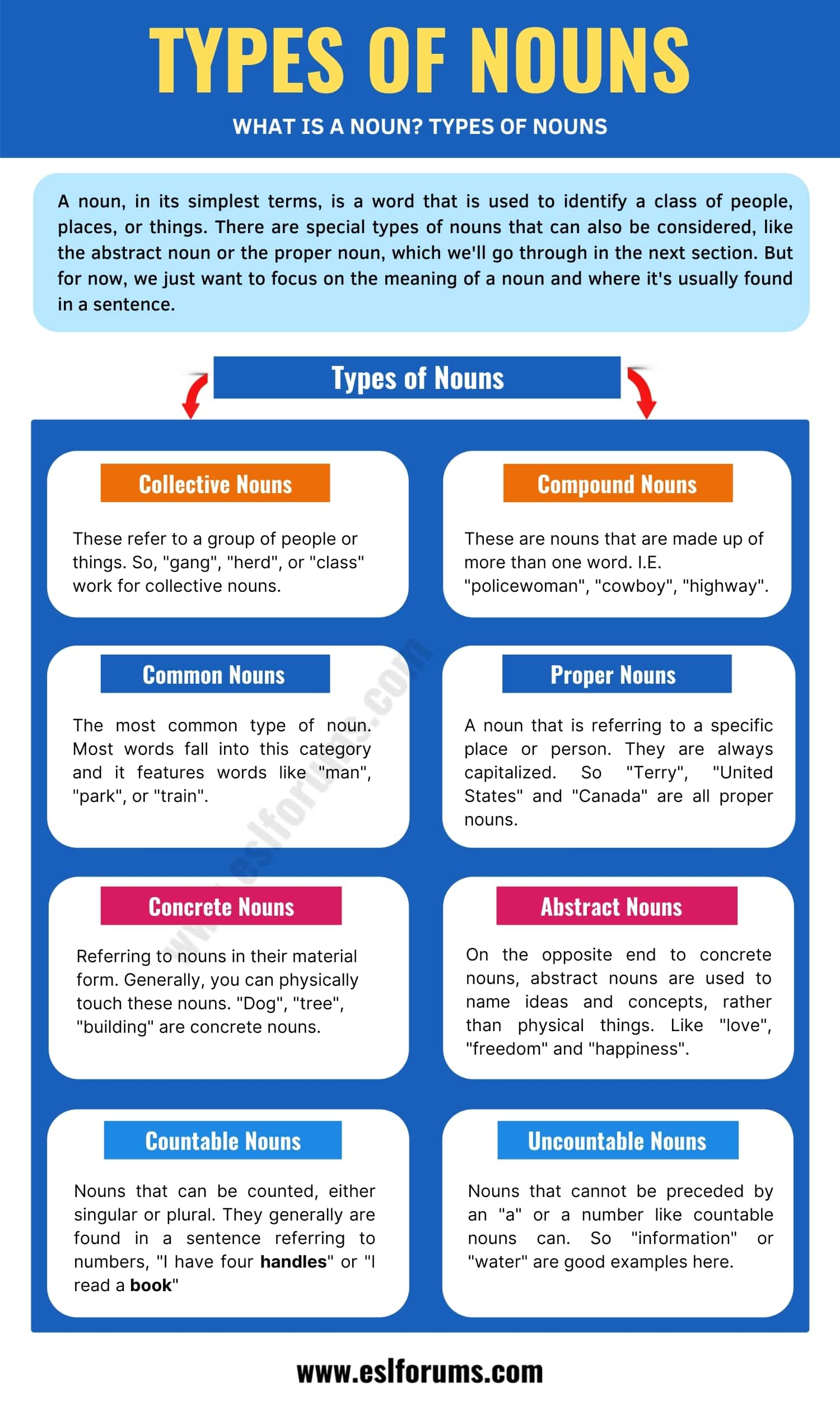 A Complete Guide to English Nouns (Types & List of Nouns)